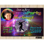 Dance Party invitation   Personalized Digital Card