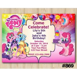 Twin My Little Pony Invitation