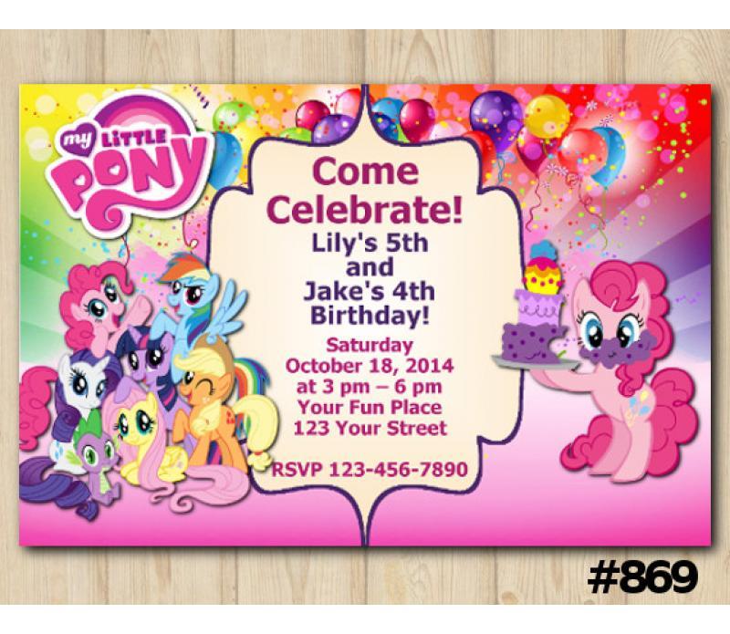 graphic regarding My Little Pony Invitations Free Printable called Dual My Minimal Pony Invitation Custom-made Electronic Card