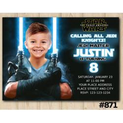 Star Wars Photo Invitation