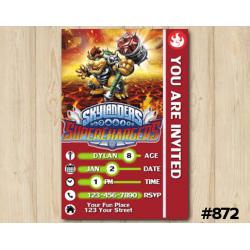Skylanders Superchargers Game Card Invitation | Browser