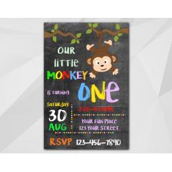 Little Monkey Invitation