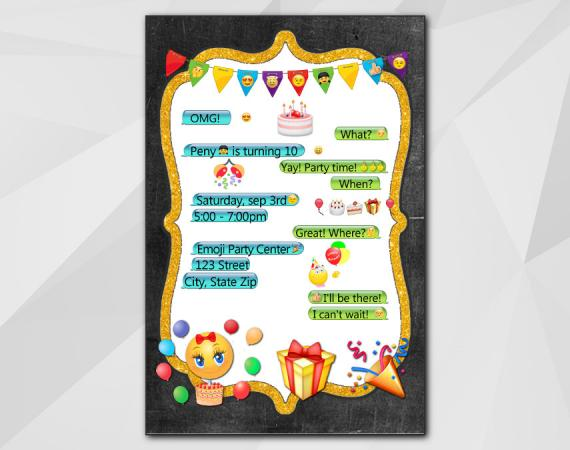Emoji Invitation | Personalized Digital Card