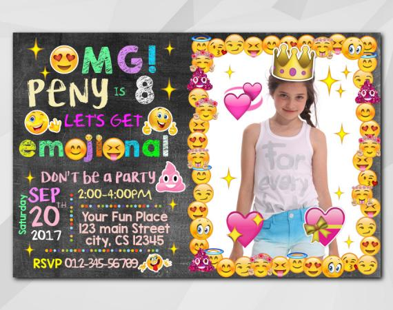 Emoji Invitation with Photo | Personalized Digital Card
