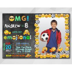 Boy Emoji Invitation with Photo