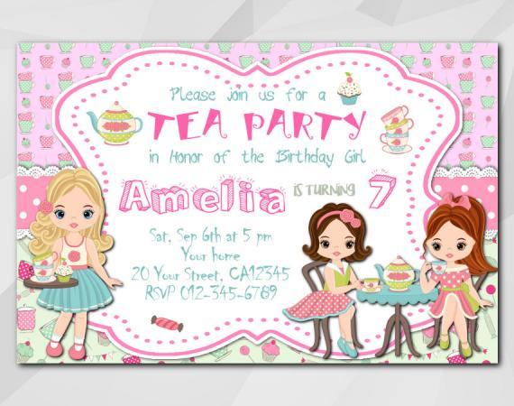 Tea Party invitation | Personalized Digital Card