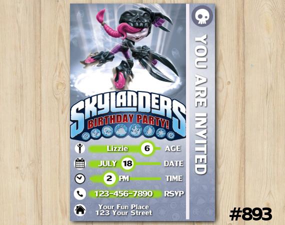 Skylanders Roller Brawl Game Card Invitation | Personalized Digital Card