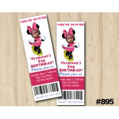 Minnie Mouse Custom Birthday Invitations DIY Printables