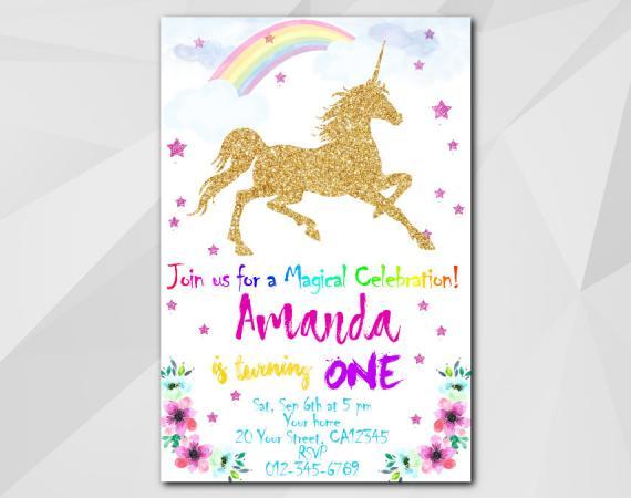 photo regarding Printable Unicorn Template known as Unicorn invitation Custom made Electronic Card