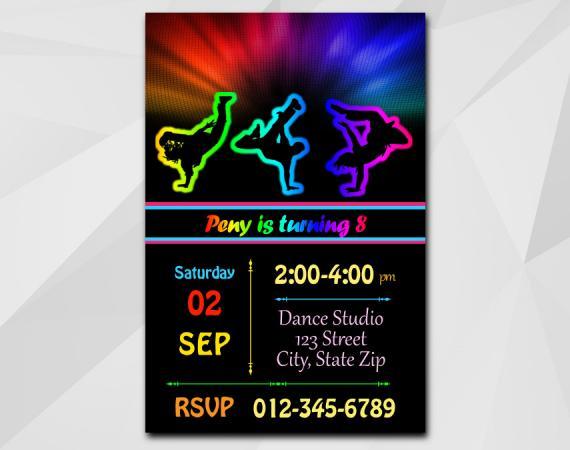 Disco Dance invitation | Personalized Digital Card