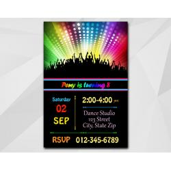 Disco Dance invitation