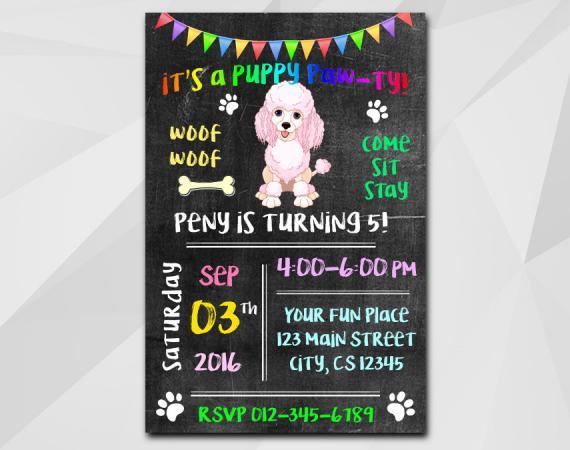 Puppy Dog Invitation | Personalized Digital Card