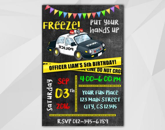 Police Invitation | Personalized Digital Card
