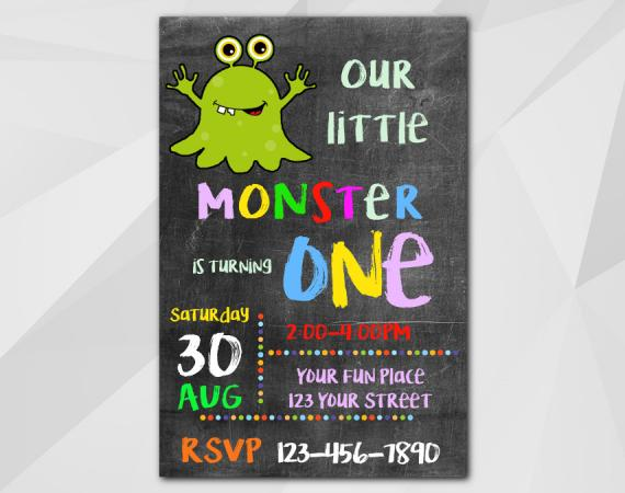 Monster Invitation | Personalized Digital Card