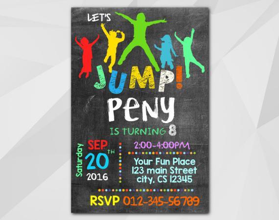 Jump Invitation | Personalized Digital Card