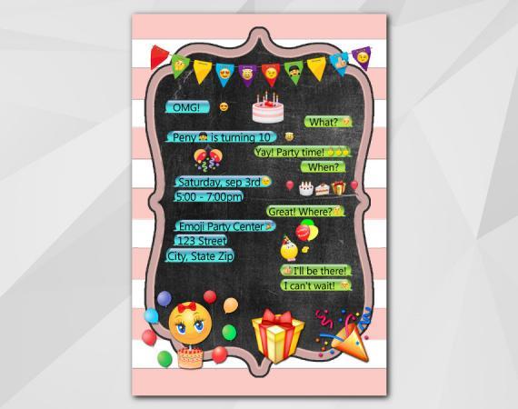 Emoji Invitation | Personalized Digital Card
