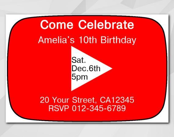 Youtube Invitation | Personalized Digital Card