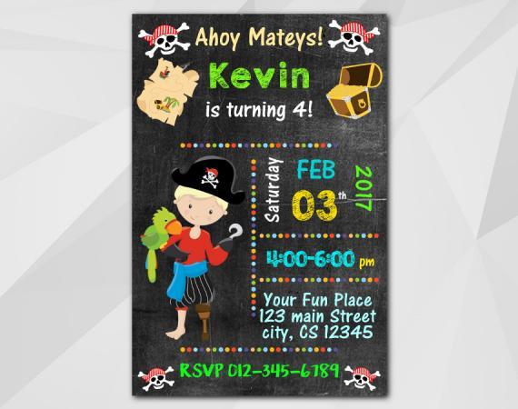Pirate Invitation | Personalized Digital Card