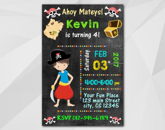 Pirate Invitation | Personalized Digital Card