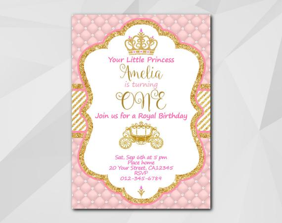 Little Princess Invitation  | Personalized Digital Card