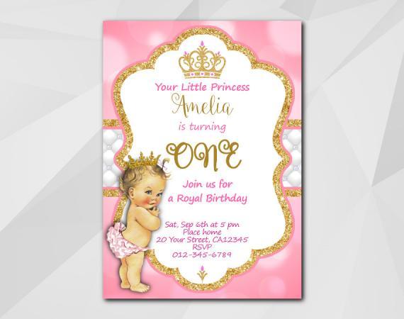 Little Princess Invitation  | Personalized Digital Card
