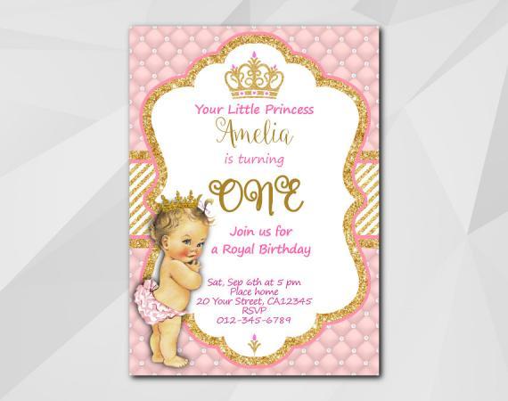 Little Princess Invitation   Personalized Digital Card