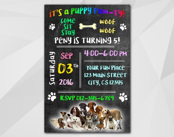 Dog Invitation | Personalized Digital Card