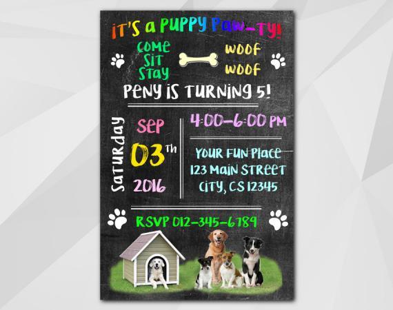 Dog Invitation | Personalized Digital Card