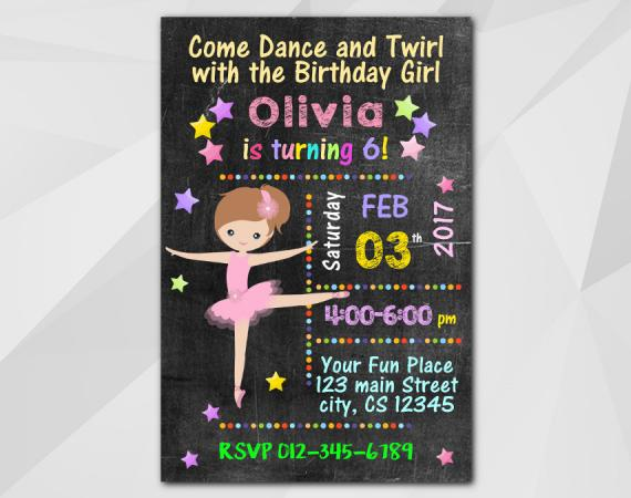 Ballet Invitation | Personalized Digital Card