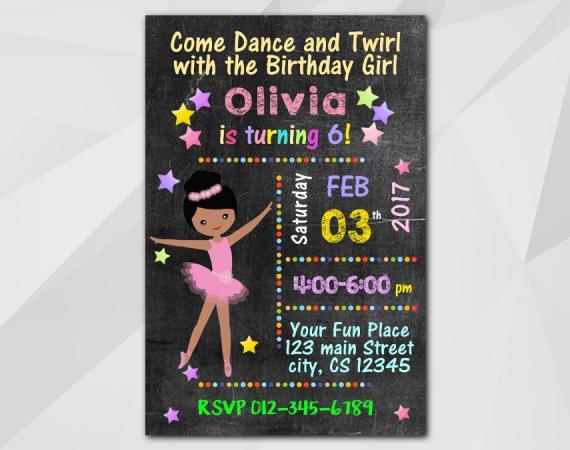 Ballet Invitation   Personalized Digital Card