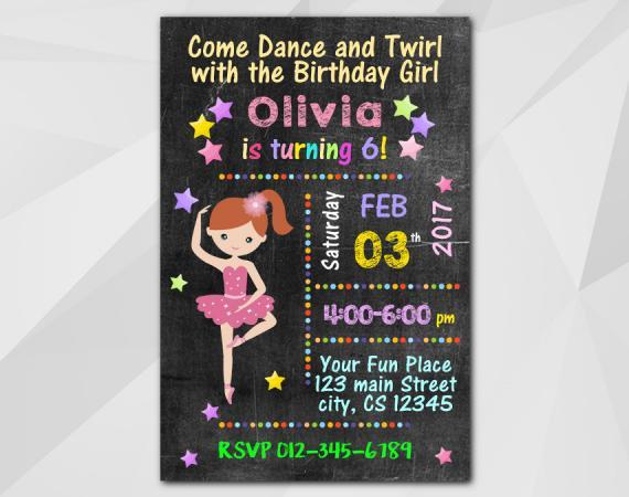 Ballet Invitation | Personalized Digital Card