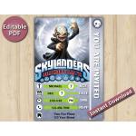Skylanders Editable Invitation With Back 4x6 | Kaos | Instant Download