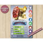 Skylanders Editable Invitation With Back 4x6 | Wildfire | Instant Download
