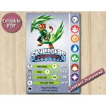 Skylanders Editable Invitation With Back 5x7 | TuffLuck | Instant Download