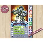 Skylanders Editable Invitation With Back 5x7   Crucher   Instant Download