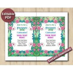 Frozen Fever Editable Invitation 5x7""