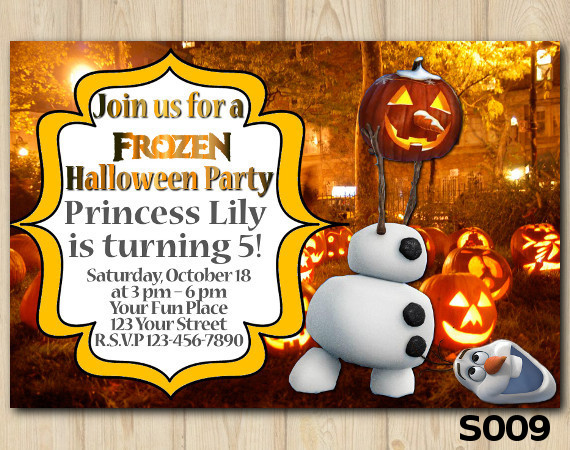 Halloween Frozen invitation | Personalized Digital Card