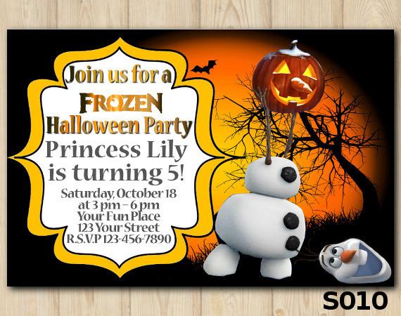 Halloween Frozen invitation   Personalized Digital Card