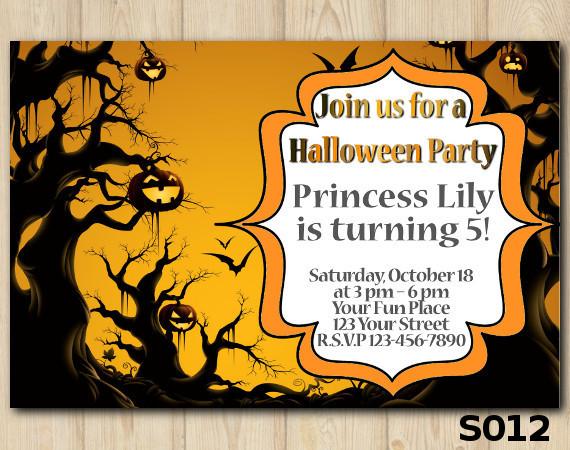 Halloween  invitation   Personalized Digital Card