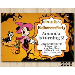 Halloween Minnie Mouse  invitation