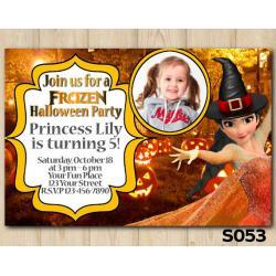 Halloween Frozen invitation