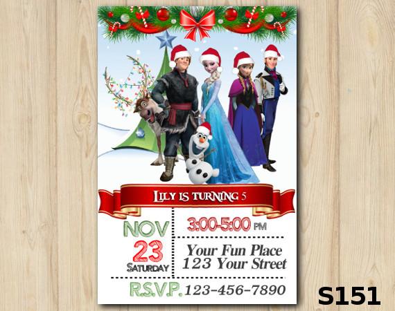 Christmas Frozen invitation | Personalized Digital Card