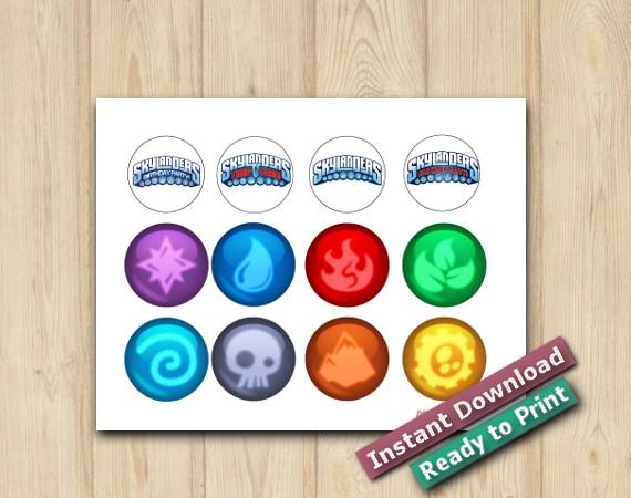Ready to Print  Digital Skylanders Stickers 2in
