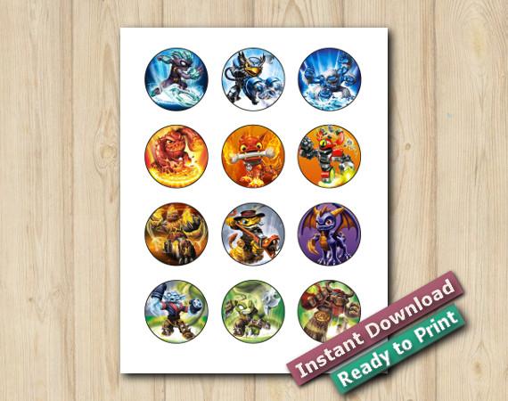 Downloadable Printable Skylanders Stickers 2in