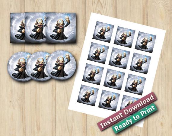 Skylanders Stickers 2in | Kaos | Instant Download