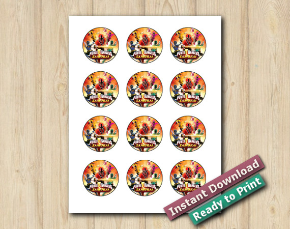 Instant Download Printable Power Rangers Stickers 2in
