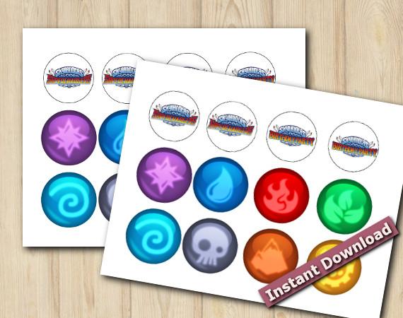 Digital Skylanders Stickers 2in