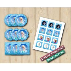 Frozen Stickers 2in
