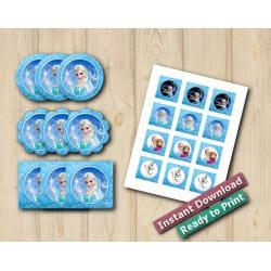 Frozen Stickers 2in
