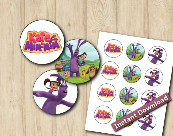 Kate and Mim Mim Stickers 2in   Instant Download